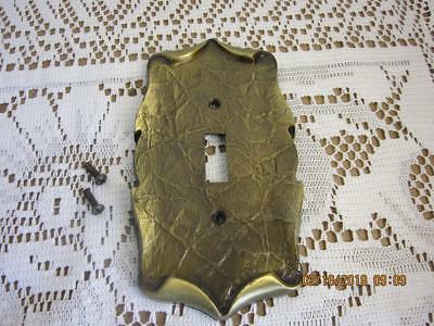 VINTAGE. Amerock  Brass Single Light Switch Plate Carriage House Antique English