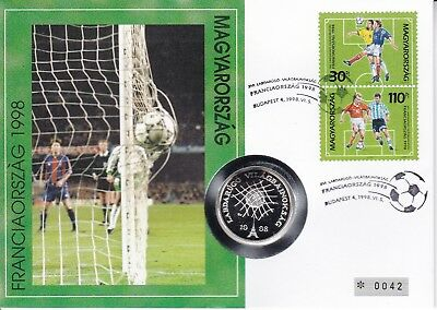 M06089 SILBER-Numisbrief Ungarn Hungary 750 Forint 1997 Fussball soccer
