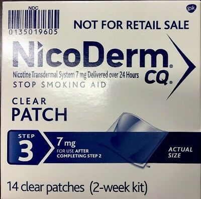 Nicoderm CQ Step 3 Clear Patches 7mg 2-Week Kit - 14 patches