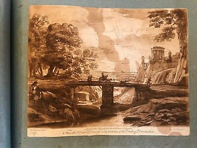 HUGE 1790s Scrap Album  - drawings, paintings, engraved prints - Stunning