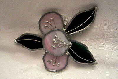 Tiffany Stained Glass Flower Window Suncatcher Collector Society in Box