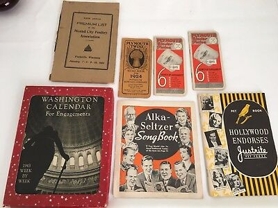 Lot of 1920s-40s Paper Advertising Booklets Including Vintage Washington D.C.