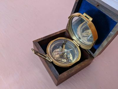 solid brass brunton transit compass  for parts, steampunk ready