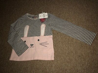 Next Rabbit Long-sleeved Girls Top, Age 4-5, New With Tags BNWT