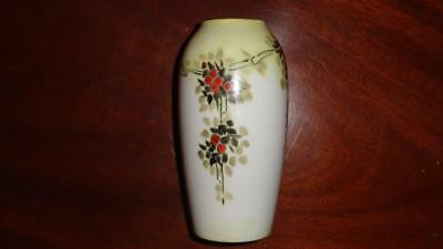 Small Vase Rosenthal 1922 Art Deco 95yrs Floral Selb-Baveria Germany Signed OQ41