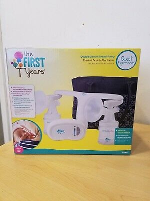 The First Years Quiet Expressions Double Electric Breast Pump by Tomy NIB