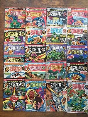 Marvels Greatest Comics #s 54-74,21 Issues,Fantastic Four,-F/VF,Combined Ship!