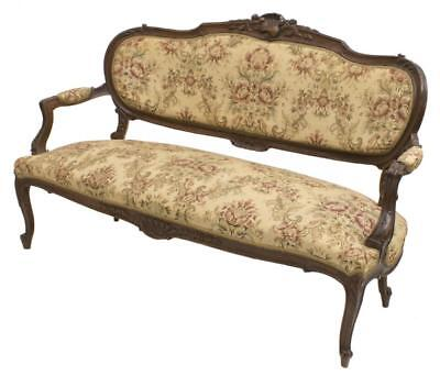 ITALIAN ROCOCO CARVED WALNUT SOFA, 19TH Century ( 1800s )