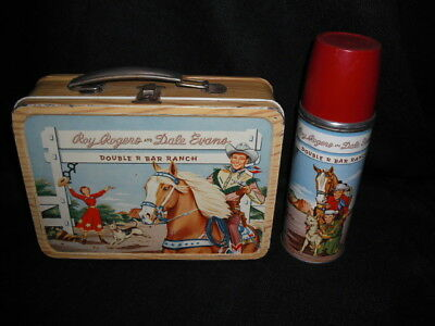 1953 Roy Rogers Lunch Box & Thermos * Vintage * Nice Western