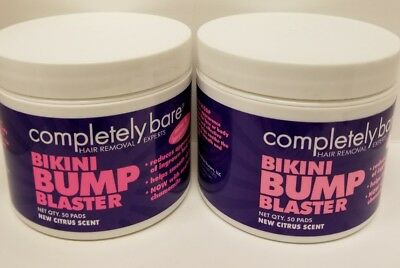 Completely Bare Bikini Bump Blaster Pads 50 ct. In each  Lot of 2 . Free ship.