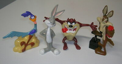 Lot of 4 ~ 1994 TYCO Looney Tunes figures ~ Taz ~ Bugs ~Wile E ~ Road Runner