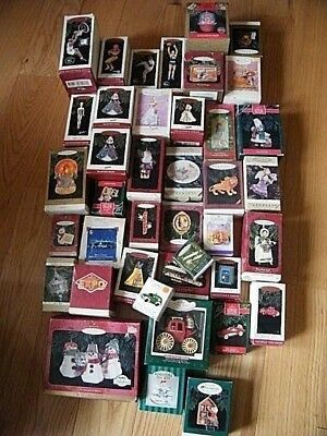 Vintage Lot Of Hallmark 42 Hallmark Christmas Ornaments From The 1990's