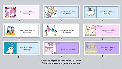 Personalized address labels Baby Shower Buy 3 get 1 free xbs 3