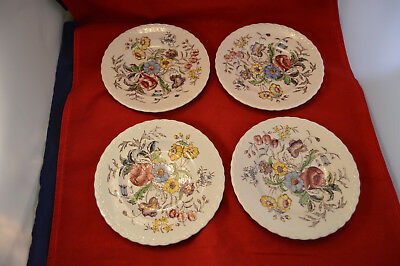 Four (4) Vernon Kilns Mayflower 7 1/4 inch Plates