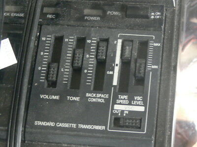 Panasonic RR-830 VSC Dictation Machine Variable Speech Control Tape Cassette