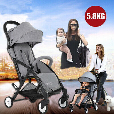 2018Compact Lightweight Baby Stroller Pram Easy Folding Travel Carry on Plane
