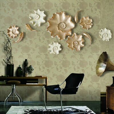 Modern Lotus Flower and Carps 3D Wall Murals Home Living Room Bedroom Wall Decor