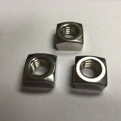 1/2-13 Square Nut 18-8 Stainless Steel 50 count box