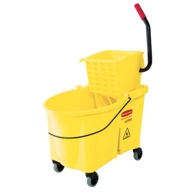 Mop Bucket With Side Press Ringer Heavy Duty Commercial Janitorial Home 26 Qt