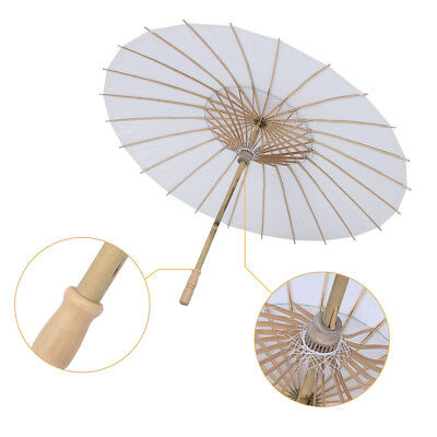 Vintage White Paper Umbrella Wedding Party Bridal Parasol Photograph Decor ZY