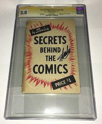 Secrets Behind The Comics CGC 2.0 (1947) SS Signed Stan Lee