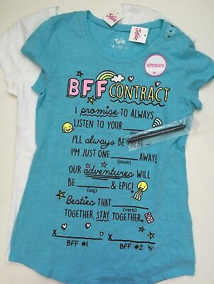 Justice Girls Lot of 2 Short Sleeve T Shirts Tees Size 14 NWT