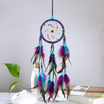 Colorful Dream catcher With Feathers Handmade Indian Style Home Car Decor