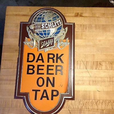 Vintage Schlitz On Tap Dark Beer  sign