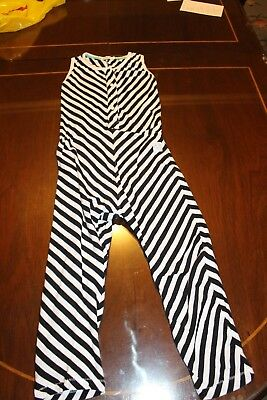 INDIKIDUAL, girls striped romper, size 5-6, EXCELLENT CONDITION