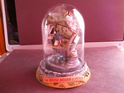 """Franklin Mint Wizard of Oz Musical Dome """"The House Began to Pitch"""""""