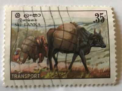 Sri Lanka Transport Stamp Denomination 0.35 Issued 1983 Used Stamp