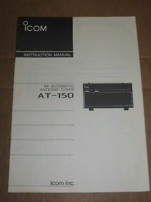 Icom AT150 Automatic Antenna Tuner INSTRUCTION MANUAL