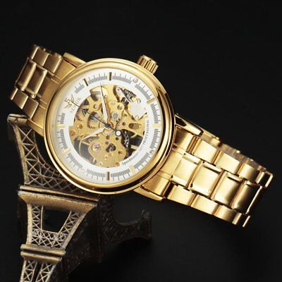 Classic Hollow Automatic Mechanical Watches Steel Watch Band For Sewor G4U