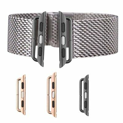 Watch Band Stainless Adapters Buckle Connector Accessories for Apple Watch G4U