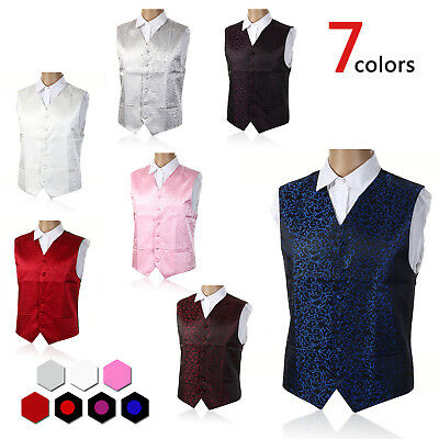 "Mens Formal Waistcoat Size 36"" - 50"" Chest Available S M L XL 2XL 3XL 4XL 5XL UK"