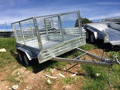 Tandem Trailer 8x6ft /1000 mm mesh cage Galvanized Brand New