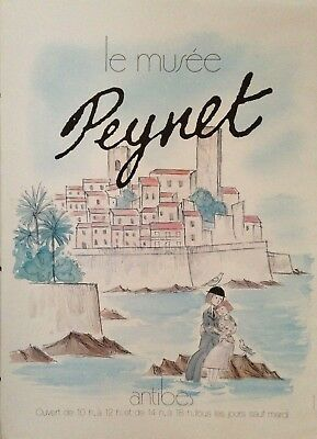 Affiche Le Musee Peynet Antibes // 50 X 70