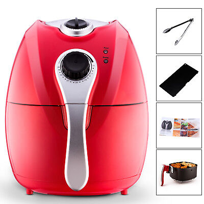 Multi-function Electric Deep Fryer Oil-Less Low Fat Red Air Fryer 1500W Kitchen