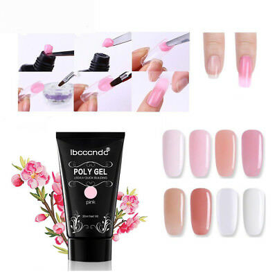 30ml Quick Poly Building Gel UV Builder Nail Tips Finger Extension Camouflage