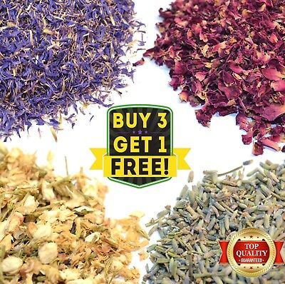 Dried Flowers & Petals 52+ Types! Herbal Tea Wedding Confetti, Soap Candle Craft