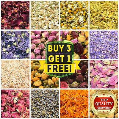 Dried Petals, Dried Flowers, 40+Types, Jasmine, Lavender Rose Chamomile FREE P&P