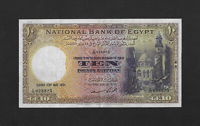GVF sign. Saad 10 pounds 1951 EGYPT Britain
