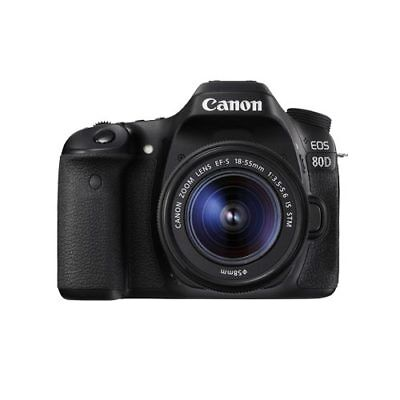 Canon EOS 80D with EF-S 18-55mm F3.5-5.6 IS STM Kit Multi Stock in EU nuovo