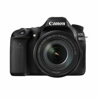 Canon EOS 80D + EF-S 18-135mm F3.5-5.6 IS USM Kit (Multi) Stock in EU genuino