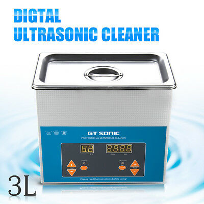 Digitale Ultrasonic Cleaner NETTOYEUR A ULTRASONS BAC INOX NETTOYAGE ULTRASON 3L