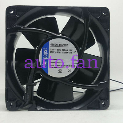 For ebmpapst 4650N-465/A02 All-metal high-temperature fan230V19/18W 120*120*38MM