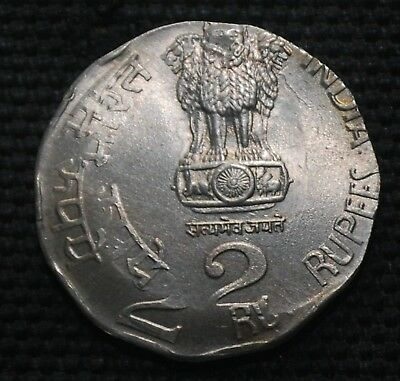 INDIA 2003 Rs.2 WITH DOUBLE STRIKE ERROR RARE