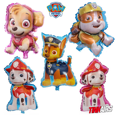 3 Stück Paw Patrol Familie Hunde Skye Rubble Helium Folienballon Kinder Party