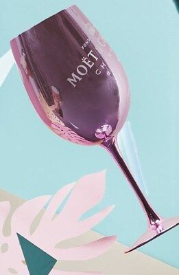 Moet Chandon Pink Glass Goblet Champagne Glass Flute X  1 Rare New Style