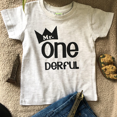 Mr Onederful Boys First Birthday Outfit 1st Tshirt